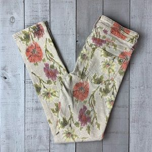 Pilcro and the Letterpress Stet floral skinny jean